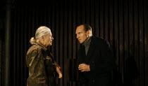 Vanessa Redgrave (Queen Margaret), Ralph Fiennes (Richard, Duke of Gloucester) in RICHARD III by Shakespeare opening at the Almeida Theatre, London N1 on 16/06/2016 set design: Hildegard Bechtler cost...