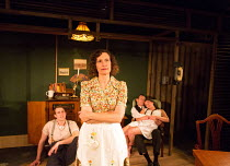 l-r: George Turvey (Ben), Nesba Crenshaw (Esther), David Bromley (Abe), Helen Coles (Maxine) in NO VILLAIN by Arthur Miller opening at Trafalgar Studios 2, London SW1 on 20/06/2016 an Old Red Lion pro...