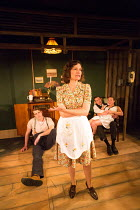l-r: George Turvey (Ben), Nesba Crenshaw (Esther), David Bromley (Abe), Helen Coles (Maxine)  in NO VILLAIN by Arthur Miller opening at Trafalgar Studios 2, London SW1 on 20/06/2016 an Old Red Lion pr...
