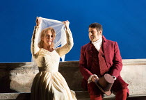 Act 2: Joyce DiDonato (Charlotte), David Bizic (Albert) in WERTHER by Massenet opening at the The Royal Opera, Covent Garden, London WC2 on 19/06/2016  after the novel by Goethe  conductor: Antonio Pa...