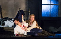 Act 4 - Christmas Eve, Werther's study: Vittorio Grigolo (Werther), Joyce DiDonato (Charlotte) in WERTHER by Massenet opening at the The Royal Opera, Covent Garden, London WC2 on 19/06/2016  after the...