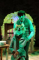 Oliver Mawdsley (Mr Tod) in WHERE IS PETER RABBIT? opening at the Old Laundry Theatre, Bowness-on Windermere, Cumbria, England on 28/06/2016 music: Steven Edis lyrics: Alan Ayckbourn based on the orig...