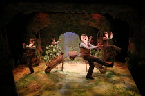 5 Mr McGregors in WHERE IS PETER RABBIT? opening at the Old Laundry Theatre, Bowness-on Windermere, Cumbria, England on 28/06/2016 music: Steven Edis lyrics: Alan Ayckbourn based on the original tales...