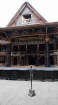 MACBETH by Shakespeare set & lighting design: Ciaran Bagnall costumes: Joan O'Clery director: Iqbal Khan ~stage,set,empty,soldier,statue~Shakespeare's Globe (SG), London SE1  23/06/2016...
