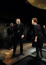 Ralph Fiennes (Richard, Duke of Gloucester), Aislin McGuckin (Queen Elizabeth) in RICHARD III by Shakespeare opening at the Almeida Theatre, London N1 on 16/06/2016 set design: Hildegard Bechtler cost...