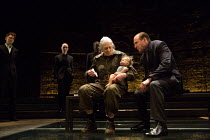 Vanessa Redgrave (Queen Margaret), Ralph Fiennes (Richard, Duke of Gloucester) in RICHARD III by Shakespeare opening at the Almeida Theatre, London N1 on 16/06/2016  set design: Hildegard Bechtler cos...