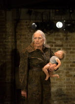 Vanessa Redgrave (Queen Margaret) in RICHARD III by Shakespeare opening at the Almeida Theatre, London N1 on 16/06/2016  set design: Hildegard Bechtler costumes: Jan Morrell lighting: Jon Clark fights...