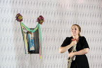 Laura Wilde (Jenufa) in JENUFA by Janacek opening at English National Opera (ENO), London Coliseum WC2 on 23/06/2016   conductor: Mark Wigglesworth set design: Charles Edwards costumes: Jon Morrell li...