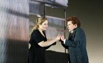 Laura Wilde (Jenufa), Peter Hoare (Laca Klemen) in JENUFA by Janacek opening at English National Opera (ENO), London Coliseum WC2 on 23/06/2016   conductor: Mark Wigglesworth set design: Charles Edwar...
