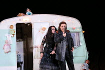 Ekaterina Semenchuk (Azucena), Francesco Meli (Manrico) in IL TROVATORE by Verdi opening at The Royal Opera, Covent Garden, London WC2 on 02/07/2016        co-production with Oper Frankfurt  conductor...