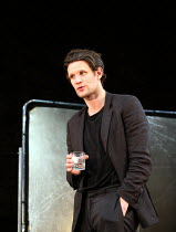 Matt Smith (Maxim) in UNREACHABLE written & directed by Anthony Neilson opening at the Jerwood Theatre Downstairs, Royal Court Theatre, London SW1 on 08/07/2016 set design: Chloe Lamford costumes: Fly...