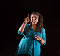 Sharon D Clarke in PIGS AND DOGS by Caryl Churchill opening at the Jerwood Theatre Downstairs, Royal Court Theatre, London SW1 on 22/07/2016 lighting: Jack Williams director: Dominic Cooke  Donald Coo...