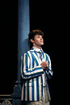 'If The Rain's Got To Fall': Charlie Stemp (Arthur Kipps) in HALF A SIXPENCE opening at the Chichester Festival Theatre, West Sussex, England on 26/07/2016 based on the H.G.Wells novel Kipps: The Stor...
