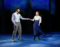 'Long Ago': Charlie Stemp (Arthur Kipps), Devon-Elise Johnson (Ann Pornick) in HALF A SIXPENCE opening at the Chichester Festival Theatre, West Sussex, England on 26/07/2016 based on the H.G.Wells nov...