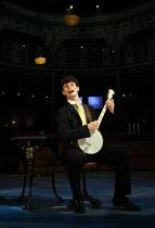 'Money To Burn' : Charlie Stemp (Arthur Kipps) in HALF A SIXPENCE opening at the Chichester Festival Theatre, West Sussex, England on 26/07/2016 based on the H.G.Wells novel 'Kipps: The Story of a Sim...