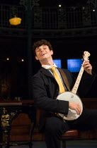 'Money To Burn': Charlie Stemp (Arthur Kipps) in HALF A SIXPENCE opening at the Chichester Festival Theatre, West Sussex, England on 26/07/2016 based on the H.G.Wells novel 'Kipps: The Story of a Simp...