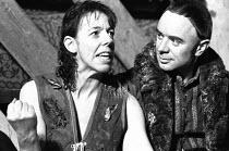 HAMLET by Shakespeare set design: Mick Bearwish costumes: Iona McLeish lighting: Jim Woodley director: Robert Walker   Frances de la Tour (Hamlet), Robin Soans (Horatio)  Half Moon Theatre Theatre,...