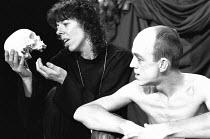 HAMLET by Shakespeare set design: Mick Bearwish costumes: Iona McLeish lighting: Jim Woodley director: Robert Walker   Frances de la Tour (Hamlet), Andy de la Tour (Gravedigger)  Half Moon Theatre...