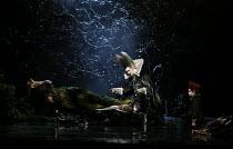 l-r: Matthew Rose (Bottom), Kathleen Kim (Tytania), Tim Mead (Oberon), David Evans (Puck) in A MIDSUMMER NIGHT'S DREAM music: Benjamin Britten after Shakespeare opening at Glyndebourne Festival Opera,...