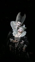 Tim Mead (Oberon), Kathleen Kim (Tytania) in A MIDSUMMER NIGHT'S DREAM music: Benjamin Britten after Shakespeare opening at Glyndebourne Festival Opera, East Sussex, England on 11/08/2016 conductor: J...