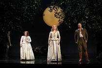 l-r: Benjamin Hulett (Lysander), Elizabeth DeShong (Hermia), Kate Royal (Helena), Duncan Rock (Demetrius) in A MIDSUMMER NIGHT'S DREAM music: Benjamin Britten after Shakespeare opening at Glyndebourne...
