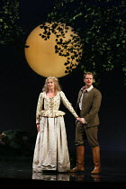 Kate Royal (Helena), Duncan Rock (Demetrius) in A MIDSUMMER NIGHT'S DREAM music: Benjamin Britten after Shakespeare opening at Glyndebourne Festival Opera, East Sussex, England on 11/08/2016 conductor...