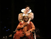 Michael Sumuel (Theseus), Claudia Huckle (Hippolyta) in A MIDSUMMER NIGHT'S DREAM music: Benjamin Britten after Shakespeare opening at Glyndebourne Festival Opera, East Sussex, England on 11/08/2016 c...