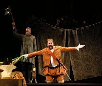 (rear) William Dazeley (Starveling / Moonshine), Matthew Rose (Bottom / Pyramus) in A MIDSUMMER NIGHT'S DREAM music: Benjamin Britten after Shakespeare opening at Glyndebourne Festival Opera, East Sus...