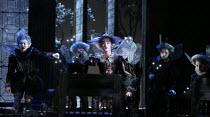 Fairies in A MIDSUMMER NIGHT'S DREAM music: Benjamin Britten after Shakespeare opening at Glyndebourne Festival Opera, East Sussex, England on 11/08/2016   conductor: Jakub Hrusa set design: John Bury...