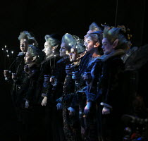 Fairies in A MIDSUMMER NIGHT'S DREAM music: Benjamin Britten after Shakespeare opening at Glyndebourne Festival Opera, East Sussex, England on 11/08/2016 conductor: Jakub Hrusa set design: John Bury c...