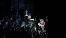 Tim Mead (Oberon), Kathleen Kim (Tytania) with fairies in A MIDSUMMER NIGHT'S DREAM music: Benjamin Britten after Shakespeare opening at Glyndebourne Festival Opera, East Sussex, England on 11/08/2016...