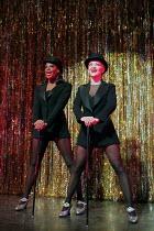 CHICAGO music: John Kander lyrics: Fred Ebb book: Fred Ebb & Bob Fosse design: John Lee Beatty choreography: Ann Reinking after Fosse director: Walter Bobbie   l-r: Nicola Hughes (Velma Kelly), Maria...