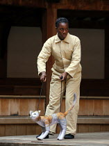 Nandi Bhebhe (Tips the Cat) in 946: THE AMAZING STORY OF ADOLPHUS TIPS opening at Shakespeare's Globe (SG), London SE1 on 17/08/2016  adapted by Michael Morpurgo from his novel with Emma Rice design:...