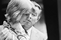 THE PHILANTHROPIST by Christopher Hampton design: John Gunter director: Robert Kidd Jane Asher (Celia), Alec McCowen (Philip) Royal Court Theatre, London SW1  03/08/1970         Donald Cooper/Photosta...
