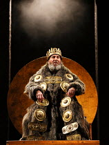 Act 1, scene 1: Antony Sher (King Lear) in KING LEAR by Shakespeare opening at the Royal Shakespeare Theatre, Stratford-upon-Avon, England on 01/09/2016   a Royal Shakespeare Company (RSC) production...