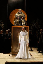 Act 1, scene 1: Natalie Simpson (Cordelia), Antony Sher (King Lear) in KING LEAR by Shakespeare opening at the Royal Shakespeare Theatre, Stratford-upon-Avon, England on 01/09/2016 ~a Royal Shakespear...