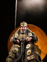 Act 1, scene 1: Antony Sher (King Lear) in KING LEAR by Shakespeare opening at the Royal Shakespeare Theatre, Stratford-upon-Avon, England on 01/09/2016 ~a Royal Shakespeare Company (RSC) production d...