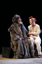 Act 1, scene 5 - l-r: Antony Sher (King Lear), Graham Turner (Fool) in KING LEAR by Shakespeare opening at the Royal Shakespeare Theatre, Stratford-upon-Avon, England on 01/09/2016 ~a Royal Shakespear...