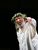 Act 4, scene 6: Antony Sher (King Lear) in KING LEAR by Shakespeare opening at the Royal Shakespeare Theatre, Stratford-upon-Avon, England on 01/09/2016 ~a Royal Shakespeare Company (RSC) production d...