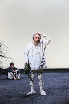 Act 4, scene 6 - l-r: Oliver Johnstone (Edgar), Antony Sher (King Lear) in KING LEAR by Shakespeare opening at the Royal Shakespeare Theatre, Stratford-upon-Avon, England on 01/09/2016 ~a Royal Shakes...