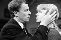 THE PHILANTHROPIST by Christopher Hampton design: John Gunter director: Robert Kidd Alec McCowen (Philip), Jane Asher (Celia) Royal Court Theatre 1970 production / May Fair Theatre, London W1  26/02/1...