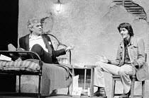 SAVAGES by Christopher Hampton design: Jocelyn Herbert & Andrew Senders director: Robert Kidd l-r: Paul Scofield (Alan West), Tom Conti (Carlos) Royal Court Theatre, London SW1 12/04/1973 Donald Coope...
