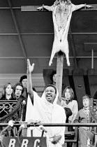 PASSION by Edward Bond design: Di Seymour director: Bill Bryden   Norman Beaton (Christ)  a Royal Court Theatre production / C.N.D Festival, Alexandra Park Racecourse, Haringey, London N22  11/04/1971...