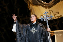 Sonya Yoncheva (Norma) in NORMA (music by Vincenzo Bellini) opening at The Royal Opera, Covent Garden, London WC2 on 12/09/2016  ~libretto: Felice Romani conductor: Antonio Pappano et design: Alfons F...