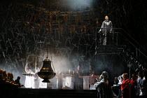 'Casta Diva' - top right: Sonya Yoncheva (Norma) in NORMA (music by Vincenzo Bellini) opening at The Royal Opera, Covent Garden, London WC2 on 12/09/2016  ~libretto: Felice Romani conductor: Antonio P...