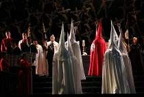 religious ceremony in NORMA (music by Vincenzo Bellini) opening at The Royal Opera, Covent Garden, London WC2 on 12/09/2016  ~libretto: Felice Romani conductor: Antonio Pappano et design: Alfons Flore...