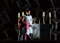 Sonya Yoncheva (Norma - with her children) in NORMA (music by Vincenzo Bellini) opening at The Royal Opera, Covent Garden, London WC2 on 12/09/2016    libretto: Felice Romani conductor: Antonio Pappa...