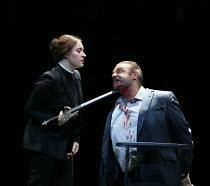 Sonya Yoncheva (Norma), Joseph Calleja (Pollione) in NORMA (music by Vincenzo Bellini) opening at The Royal Opera, Covent Garden, London WC2 on 12/09/2016  ~libretto: Felice Romani conductor: Antonio...