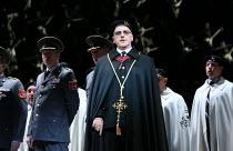 Brindley Sherratt (Oroveso) in NORMA (music by Vincenzo Bellini) opening at The Royal Opera, Covent Garden, London WC2 on 12/09/2016  ~libretto: Felice Romani conductor: Antonio Pappano et design: Alf...