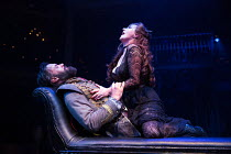 Joseph Millson (Willmore) and Alexandra Gilbreath (Angellica Bianca) in THE ROVER by Aphra Behn opening at the Swan Theatre, Stratford-upon-Avon, England  on 15/09/2016  a Royal Shakespeare Company (R...